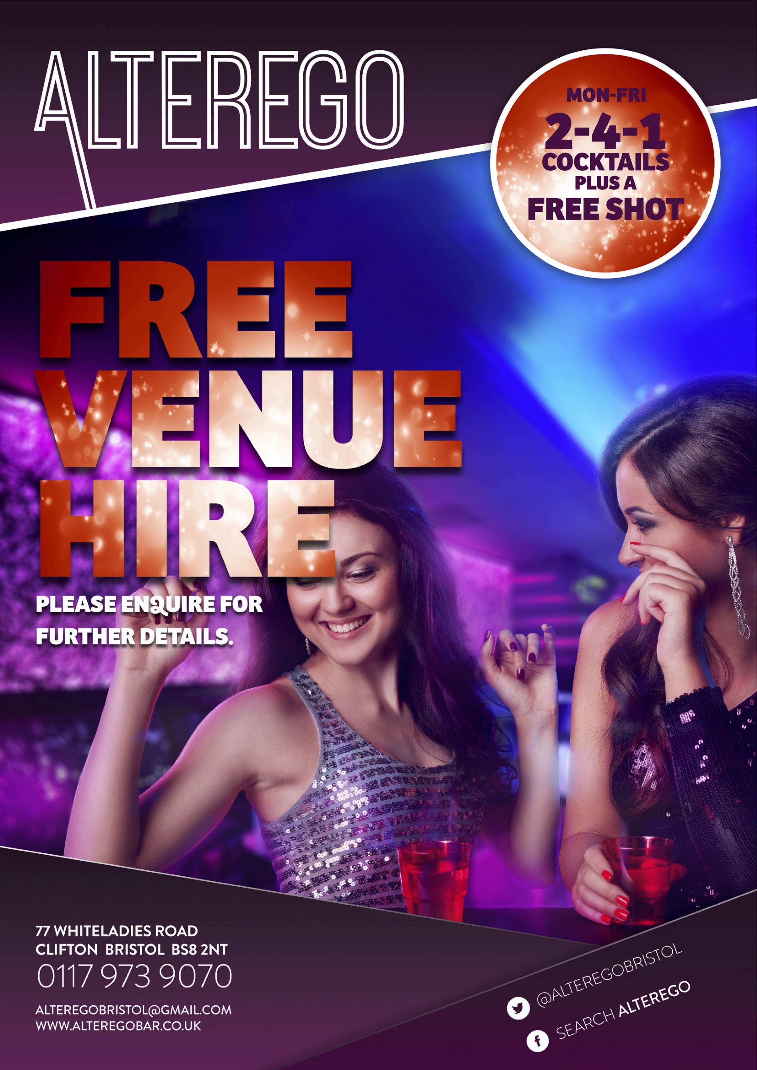 Free venue hire