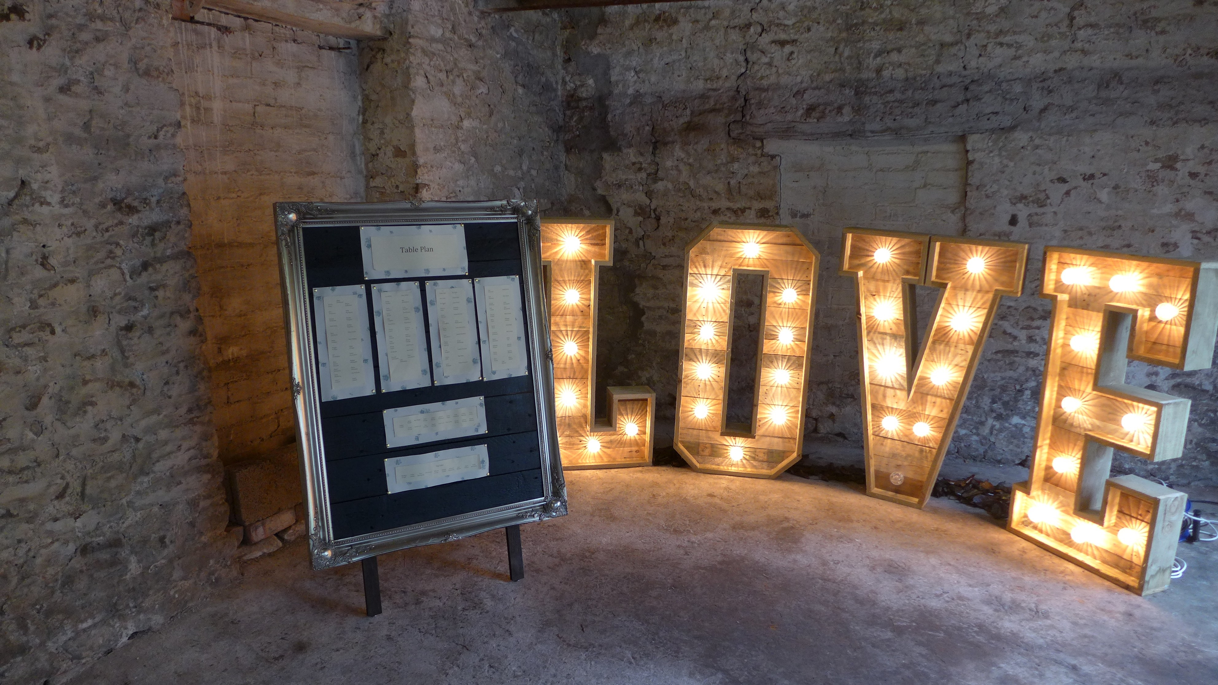 Love letters and table plan